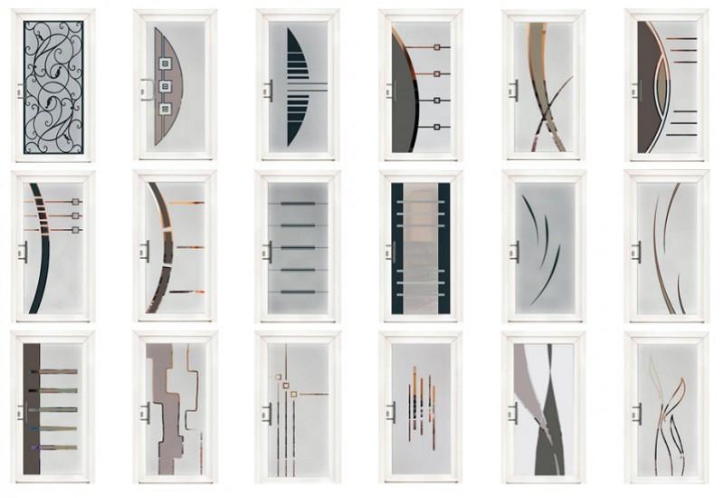 Motifs de portes vitrées
